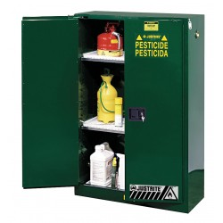 Justrite - 894524 - Justrite 45 Gallon Green Sure-Grip EX 18 Gauge Cold Rolled Steel Safety Cabinet With (2) Self-Closing Doors And (2) Adjustable Shelf (For Pesticides), ( Each )