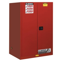 "Justrite - 899021 - 90 gal. Flammable Cabinet, 65"" x 43"" x 34"", Self-Closing Door Type"