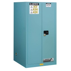 "Justrite - 899022 - 43"" x 34"" x 65"" Steel Corrosive Safety Cabinet, Blue"