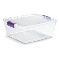 Other - 3420GRPRCL.08 - Storage Tote, Clear, 6-1/8H x 16-1/4L x 13W, 1EA