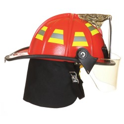 Fire Dex - 1910H951 - White Fire Helmet, Shell Material: Fiberglass, Yes Suspension, Fits Hat Size: 6-1/2 to 9