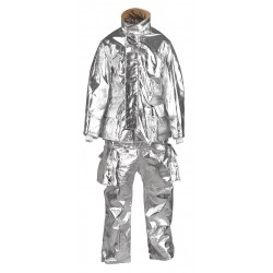 Fire Dex - TCCJPROXQT732-XL - PBI/Para Aramid Knit Aluminized Jacket, Fits Chest Size 50, XL