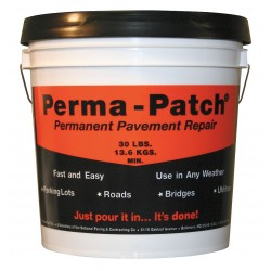 Perma-Patch - PP-30-CP - Black Pavement Repair Patch, 30 lb. Size, Coverage: 3 sq. ft. x 1 depth