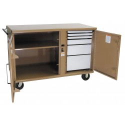 Knaack - 58 - Mobile Cabinet Workbench, Steel, 26 Depth, 37-3/8 Height, 54-1/4 Width