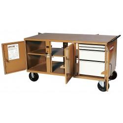 Knaack - 62 - Mobile Cabinet Workbench, Steel, 32 Depth, 34 Height, 62 Width