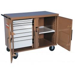 Knaack - 49 - Mobile Cabinet Workbench, Steel, 25 Depth, 37-1/2 Height, 46-1/4 Width