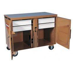 Knaack - 45 - Mobile Cabinet Workbench, Steel, 25 Depth, 37-1/2 Height, 46-1/4 Width