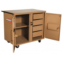 Knaack - 44 - Mobile Cabinet Workbench, Steel, 25 Depth, 37-1/2 Height, 40-3/4 Width