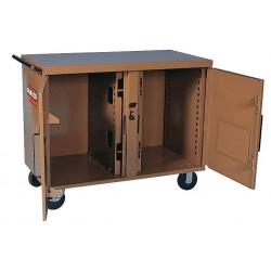 Knaack - 47 - Mobile Cabinet Workbench, Steel, 25 Depth, 37-1/2 Height, 46-1/4 Width