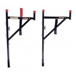 Knaack - 1450 - Truck Ladder Rack, Steel, 23 x3x57, Blk/Red