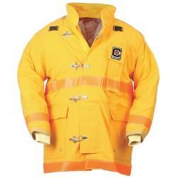 Fire Dex - 35M6J732-3X - Turnout Coat, Yellow, 3XL, Nomex