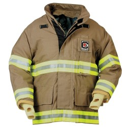 Fire Dex - 32X6J868-M - Turnout Coat, Khaki, M, Nomex/Kevlar