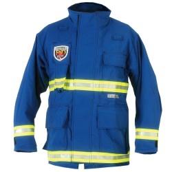 Fire Dex - PCCROSSTECHEMS-S - EMS Jacket, S Fits Chest Size 38, Royal Blue Color