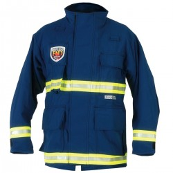 Fire Dex - PCCROSSTECHEMSN-L - EMS Jacket, L Fits Chest Size 46, Navy Color
