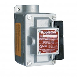 Appleton Electric - EDS175F4W - 4-Way 20 Amp Front Operated Tumbler Switch, 3/4 Dead-End Hub Style, EDS Series