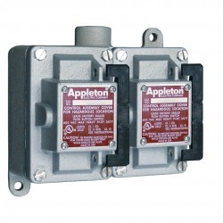 Appleton Electric - EDS275-RU1 - 2NO/2NC Control Station, 2 Gang, Contact Rating: 10A @ 600VAC