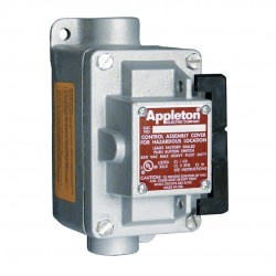 Appleton Electric - EDSC150-RU2 - 4NO/4NC Control Station, 1 Gang, Contact Rating: 10A @ 600VAC