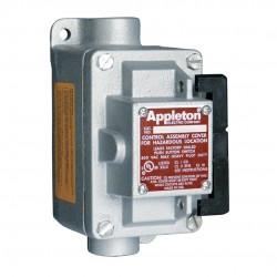 Appleton Electric - EDSC175-RU1 - 1NO/1NC Control Station, 1 Gang, Contact Rating: 10A @ 600VAC