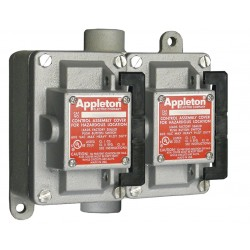 Appleton Electric - EDSC210RU2 - 2NO/2NC Control Station, 2 Gang, Contact Rating: 10A @ 600VAC