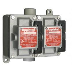 Appleton Electric - EDSC250-RU1 - 2NO/2NC Control Station, 2 Gang, Contact Rating: 10A @ 600VAC