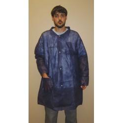 Action Chemical - A-BLC-L - Blue Polypropylene Disposable Lab Coat, Size: L