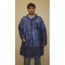 Action Chemical - A-BLC-XL - Blue Polypropylene Disposable Lab Coat, Size: XL
