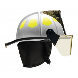 Bullard - UM6WH - White Fire Helmet, Shell Material: Fiberglass, 6-Point Sure-Lock Ratchet Suspension, Fits Hat Size: