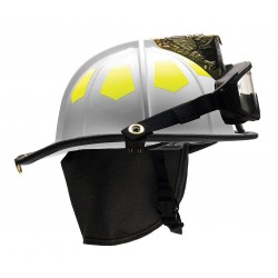 Bullard - UM6WHGIZ2 - White Fire Helmet, Shell Material: Fiberglass, 6-Point Sure-Lock Ratchet Suspension, Fits Hat Size: