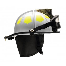 Bullard - UM6WH6LGIZ2 - White Fire Helmet with TrakLite, Shell Material: Fiberglass, 6-Point Sure-Lock Ratchet Suspension,