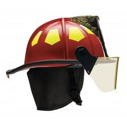 Bullard - UM6RD - Red Fire Helmet, Shell Material: Fiberglass, 6-Point Sure-Lock Ratchet Suspension, Fits Hat Size: 6