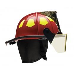 Bullard - UM6RD6L - Red Fire Helmet with TrakLite, Shell Material: Fiberglass, 6-Point Sure-Lock Ratchet Suspension, Fi