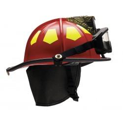 Bullard - UM6RDGIZ2 - Red Fire Helmet, Shell Material: Fiberglass, 6-Point Sure-Lock Ratchet Suspension, Fits Hat Size: 6