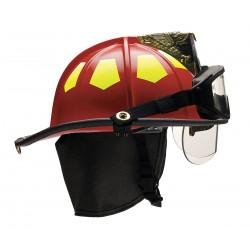 Bullard - UM6RDBRK2 - Red Fire Helmet, Shell Material: Fiberglass, 6-Point Sure-Lock Ratchet Suspension, Fits Hat Size: 6