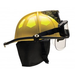 Bullard - UM6YLBRK2 - Yellow Fire Helmet, Shell Material: Fiberglass, 6-Point Sure-Lock Ratchet Suspension, Fits Hat Size