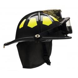 Bullard - US6BKGIZ2 - Black Fire Helmet, Shell Material: Fiberglass, 6-Point Sure-Lock Ratchet Suspension, Fits Hat Size: