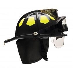 Bullard - US6BKBRK2 - Black Fire Helmet, Shell Material: Fiberglass, 6-Point Sure-Lock Ratchet Suspension, Fits Hat Size: