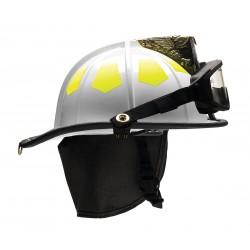 Bullard - US6WHGIZ2 - White Fire Helmet, Shell Material: Fiberglass, 6-Point Sure-Lock Ratchet Suspension, Fits Hat Size: