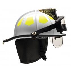 Bullard - US6WHBRK2 - White Fire Helmet, Shell Material: Fiberglass, 6-Point Sure-Lock Ratchet Suspension, Fits Hat Size: