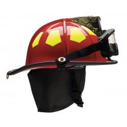 Bullard - US6RDGIZ2 - Red Fire Helmet, Shell Material: Fiberglass, 6-Point Sure-Lock Ratchet Suspension, Fits Hat Size: 6