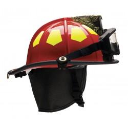 Bullard - US6RD6LGIZ2 - Red Fire Helmet with TrakLite, Shell Material: Fiberglass, 6-Point Sure-Lock Ratchet Suspension, Fi