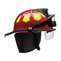 Bullard - US6RDBRK2 - Red Fire Helmet, Shell Material: Fiberglass, 6-Point Sure-Lock Ratchet Suspension, Fits Hat Size: 6
