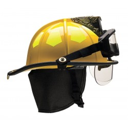 Bullard - US6YLBRK2 - Yellow Fire Helmet, Shell Material: Fiberglass, 6-Point Sure-Lock Ratchet Suspension, Fits Hat Size