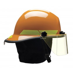 Bullard - PXSORTL - Orange Fire Helmet, Shell Material: Thermoplastic, 6-Point Sure-Lock Ratchet Suspension, Fits Hat S