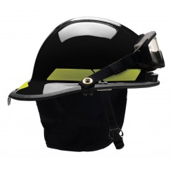 Bullard - PXSBKTLGIZ2 - Black Fire Helmet, Shell Material: Thermoplastic, 6-Point Sure-Lock Ratchet Suspension, Fits Hat Si