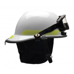 Bullard - PXSWHTLGIZ2 - White Fire Helmet, Shell Material: Thermoplastic, 6-Point Sure-Lock Ratchet Suspension, Fits Hat Si