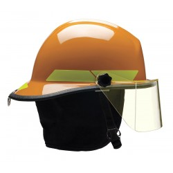 Bullard - FXSOR - Orange Fire Helmet, Shell Material: Fiberglass, 6-Point Sure-Lock Ratchet Suspension, Fits Hat Size