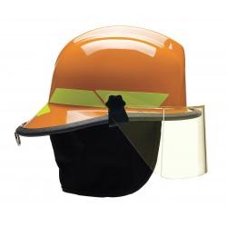Bullard - LTXOR - Orange Fire Helmet, Shell Material: Thermoplastic, 4-Point Sure-Lock Ratchet Suspension, Fits Hat S