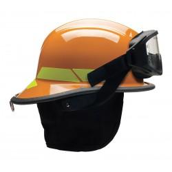 Bullard - LTXORGIZ4 - Orange Fire Helmet, Shell Material: Thermoplastic, 4-Point Sure-Lock Ratchet Suspension, Fits Hat S