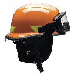 Bullard - URXOR - Orange Fire/Rescue Helmet, Shell Material: Thermoplastic, 4-Point Sure-Lock Ratchet Suspension, Fit