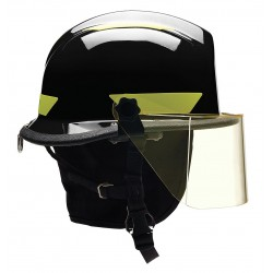 Bullard - URXBKR330 - Black Fire/Rescue Helmet, Shell Material: Thermoplastic, 4-Point Sure-Lock Ratchet Suspension, Fits